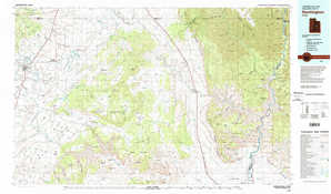 Huntington topographical map