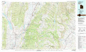 Manti topographical map