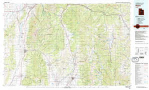 Nephi topographical map