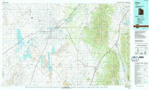 Delta topographical map