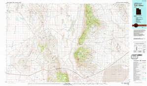 Tule Valley topographical map