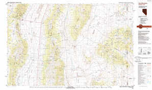 Kern Mountains topographical map