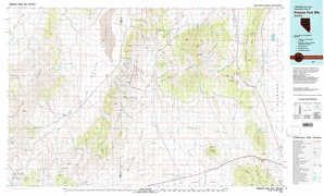 Simpson Park Mountains topographical map