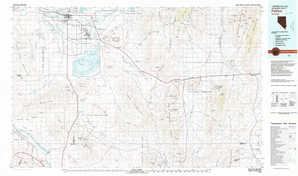 Fallon topographical map
