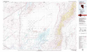 Carson Sink topographical map