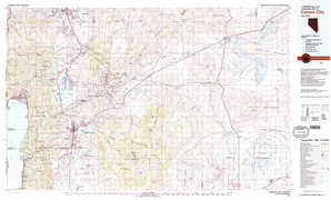 Carson City topographical map