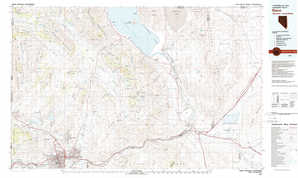 Reno topographical map