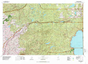 Truckee topographical map
