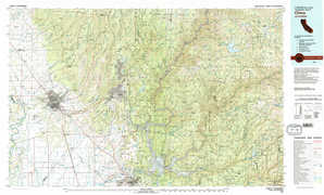 Chico topographical map