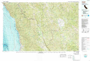 Covelo topographical map