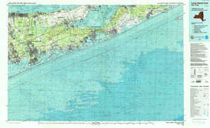 Long Island East 1:250,000 scale USGS topographic map 40072e1