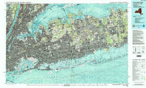 Long Island West 1:250,000 scale USGS topographic map 40073e1