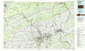 Allentown topographical map