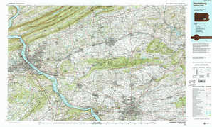 Harrisburg topographical map