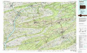 Sunbury topographical map