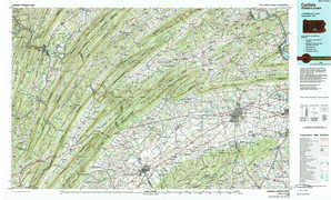 Carlisle topographical map
