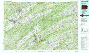 State College topographical map