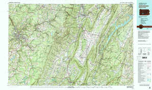 Johnstown topographical map