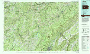 Tyrone topographical map