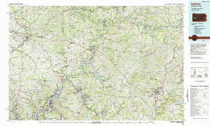 Indiana topographical map