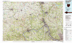 East Liverpool topographical map