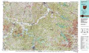 Coshocton topographical map