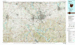 Canton topographical map