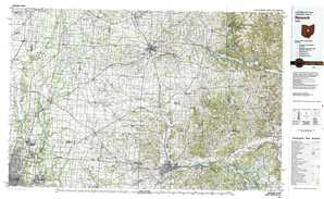 Newark topographical map