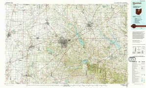Mansfield topographical map