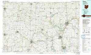 Piqua topographical map