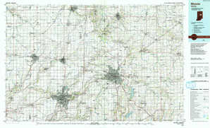 Muncie topographical map