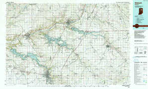 Wabash topographical map
