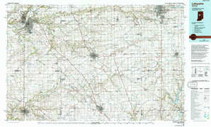 La Fayette topographical map
