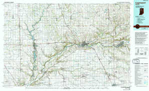 Logansport topographical map