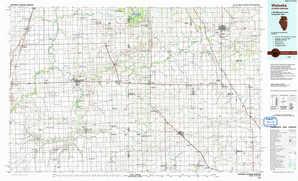 Watseka topographical map