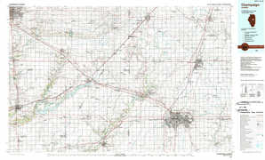 Champaign topographical map