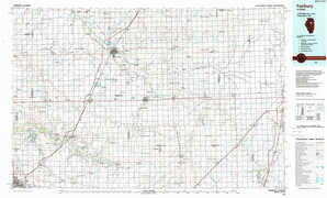 Fairbury topographical map