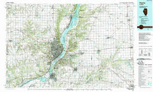 Peoria topographical map