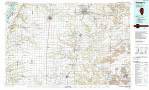Galesburg topographical map