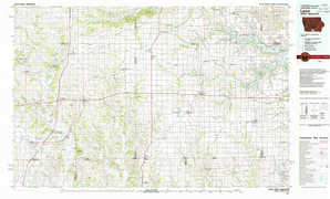 Leon topographical map