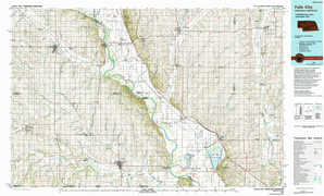 Falls City topographical map
