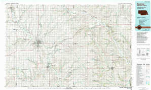Beatrice topographical map