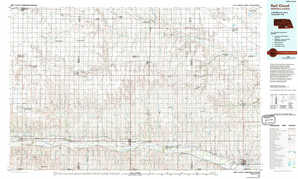 Red Cloud topographical map