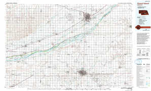 Grand Island topographical map