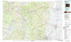 Estes Park topographical map