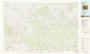 Meeker topographical map