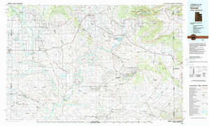 Vernal topographical map
