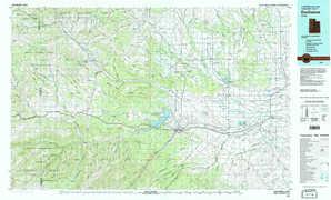 Duchesne 1:250,000 scale USGS topographic map 40110a1