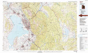 Provo 1:250,000 scale USGS topographic map 40111a1