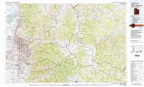 Salt Lake City 1:250,000 scale USGS topographic map 40111e1